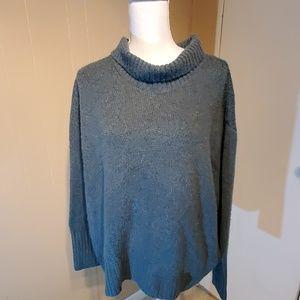 Cynthia Rowley Green High-Neck Sweater